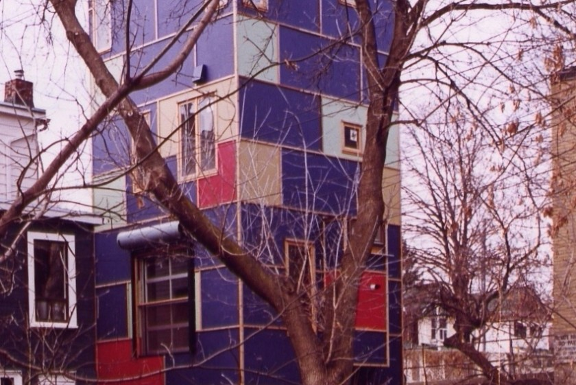 … And before 'The Driveway House' was the house on stilts, 157 Coxwell Ave. – A.K.A. 'The Lego House'